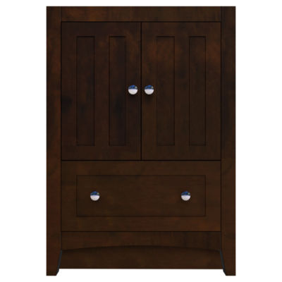 American Imaginations Shaker Rectangle Floor MountModern Plywood-Veneer Vanity Base Set Only In Walnut