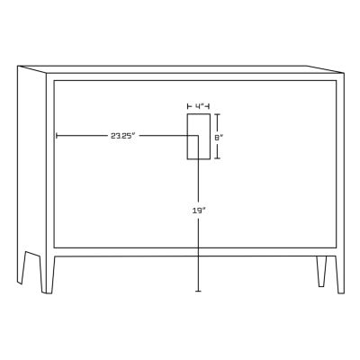 American Imaginations 22.75-in. W x 18-in. D Modern Plywood-Veneer Vanity Base Only In White