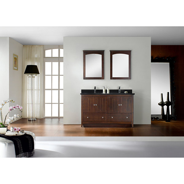 American Imaginations 28.25-in. W x 18-in. D Modern Plywood-Veneer Vanity Base Only In White