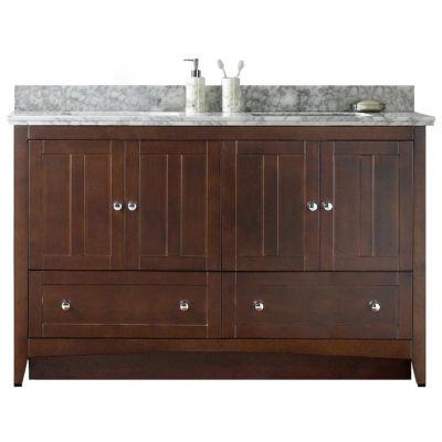 American Imaginations Shaker Rectangle Floor Mount4-in. o.c. Center Faucet Vanity Set