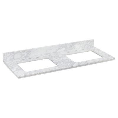 American Imaginations Shaker Rectangle Countertop8-in. o.c. Left-Right Faucet Quartz Top