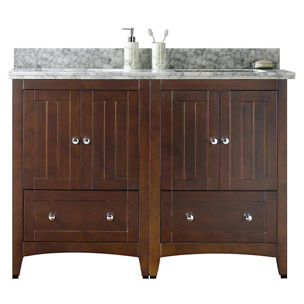 American Imaginations Shaker Rectangle Floor MountSingle Hole Center Faucet Vanity Set