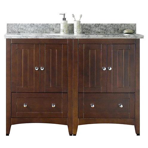 American Imaginations Shaker Rectangle Floor MountSingle Hole Center Faucet Vanity Set