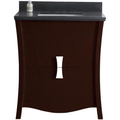 American Imaginations Bow Rectangle Floor Mount 4-in. o.c. Center Faucet Vanity Set