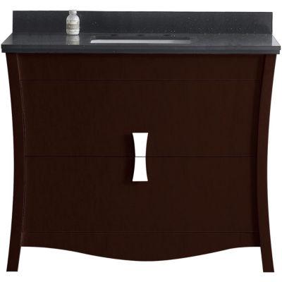 American Imaginations 46.5-in. W x 18-in. D ModernBirch Wood-Veneer Vanity Base Only In White
