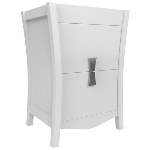 American Imaginations Bow Rectangle Floor Mount 23-in. W x 18-in. D Modern Birch Wood-Veneer VanityBase Only In White