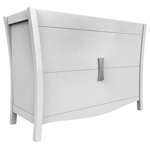 American Imaginations Bow Rectangle Floor Mount 46.5-in. W x 18-in. D Modern Birch Wood-Veneer Vanity Base Only In White
