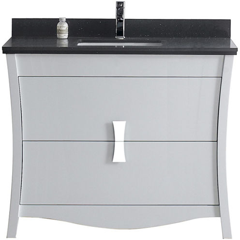 American Imaginations 49.5-in. W x 22-in. D MarbleTop In Bianca Carara Color For Single Hole Faucet