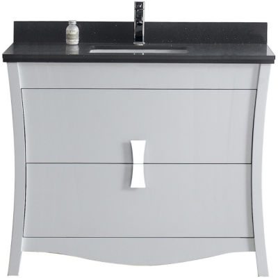 American Imaginations 49.5-in. W x 22-in. D MarbleTop In Bianca Carara Color For 4-in. o.c. Faucet