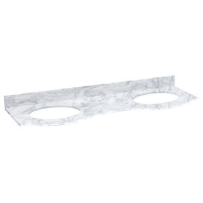 American Imaginations Tiffany Rectangle CountertopSingle Hole Center Faucet Marble Top