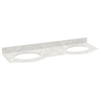 American Imaginations Tiffany Rectangle Countertop4-in. o.c. Center Faucet Marble Top