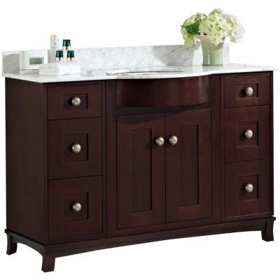 American Imaginations Tiffany Rectangle Floor Mount 4-in. o.c. Center Faucet Vanity Set