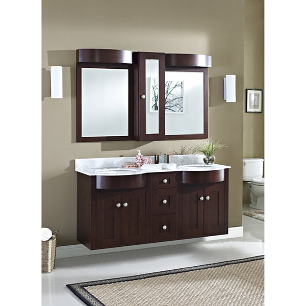 American Imaginations Tiffany Rectangle Wall Mount4-in. o.c. Center Faucet Vanity Set