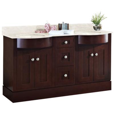 American Imaginations Tiffany Rectangle Floor Mount 8-in. o.c. Center Faucet Vanity Set