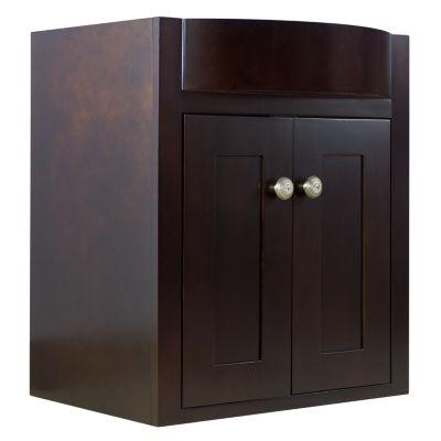 American Imaginations 40.25-in. W x 13.75-in. D Modern Birch Wood-Veneer Vanity Base Only In Cherry