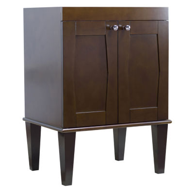 American Imaginations Birch Wood-Veneer Vanity SetIn Antique Cherry