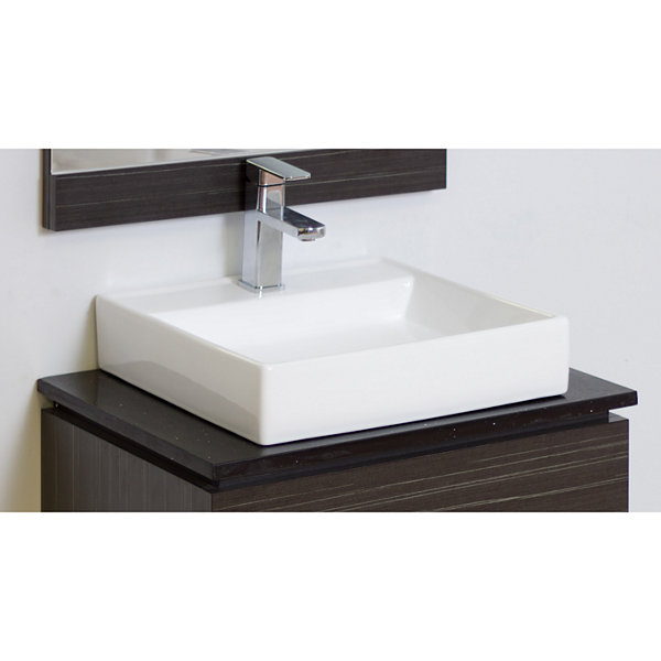 American Imaginations Xena Quartz Rectangle Countertop Single Hole Center Faucet Quartz Top