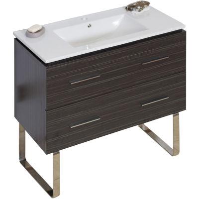 American Imaginations Xena Rectangle Floor Mount Single Hole Center Faucet Vanity Set