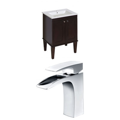 American Imaginations Roxy Rectangle Floor Mount Single Hole Center Faucet Vanity Set