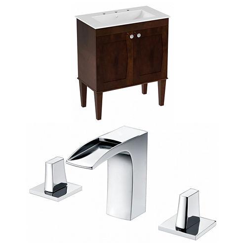 American Imaginations Roxy Rectangle Floor Mount 8-in. o.c. Center Faucet Vanity Set