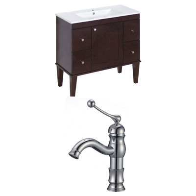 American Imaginations Roxy Rectangle Floor Mount Single Hole Center Faucet Vanity Set