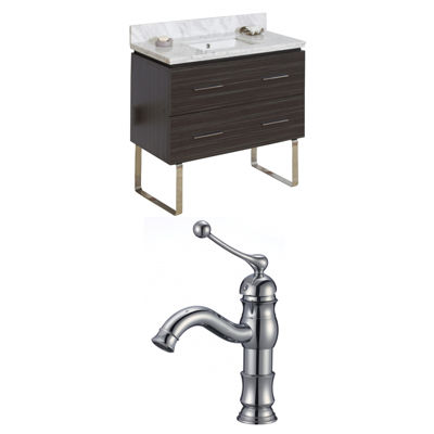 American Imaginations Xena Rectangle Floor Mount Single Hole Center Faucet Vanity Set