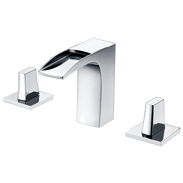 American Imaginations Tiffany Rectangle Floor Mount 8-in. o.c. Center Faucet Vanity Set
