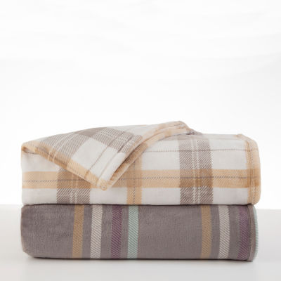 Vellux Emmitt Stripe Knit Heavyweight Blanket