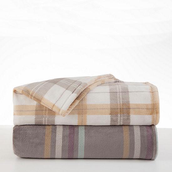 Vellux Emmitt Stripe Knit Heavyweight Blanket
