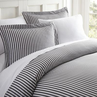 Casual Comfort™ Premium Ultra Soft Ribbon Pattern Wrinkle Resistant Duvet Cover Set