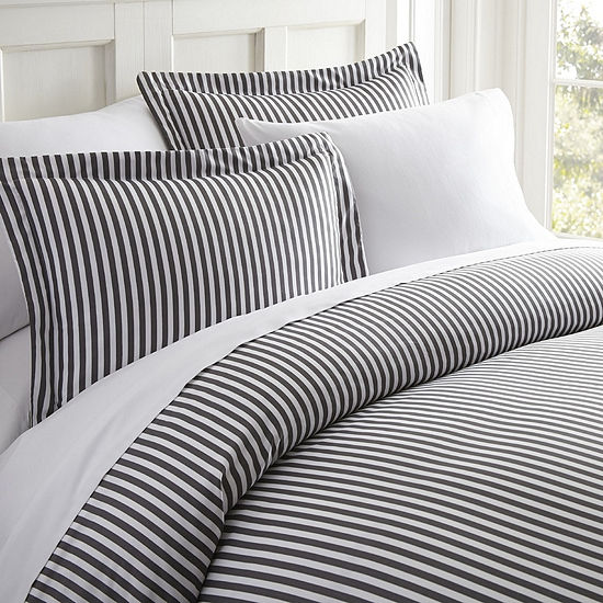 Casual Comfort™ Premium Ultra Soft Ribbon Pattern Wrinkle Resistant Duvet Cover Set