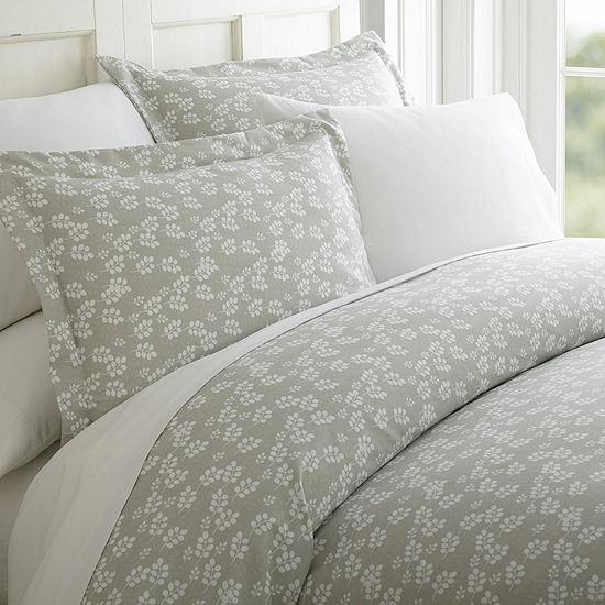 Casual Comfort™ Premium Ultra Soft Wheatfield Pattern Wrinkle Resistant Duvet Cover Set
