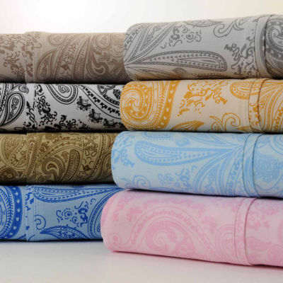 Bibb Home Paisley Collection 800 Thread Count Cotton Rich Sheets 4 Piece Set
