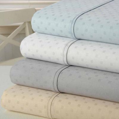 "Kathy Ireland Gallery ""Swiss Dot"" 1200 Thread Count Cotton Rich 6 Piece Sheet Set"