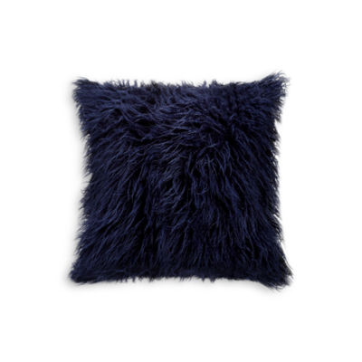 Frisco Mongolian Sheepskin Faux Fur Throw Pillow