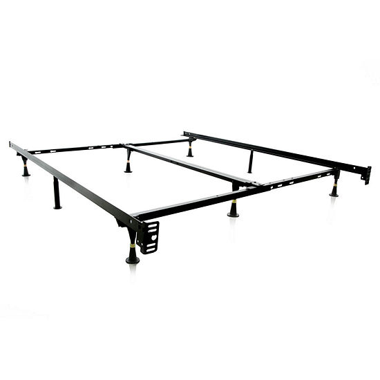 Malouf Structures Low Profile Heavy Duty Adjustable Bed Frame with Glides