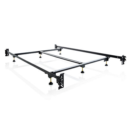 Malouf Structures Steelock Heavy Duty Steel Bed Frame, One Size , Black