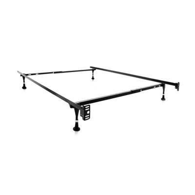 Malouf Structures Adjustable Metal Bed Frame with Glides