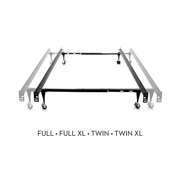 Malouf Structures Adjustable Metal Bed Frame with Wheels