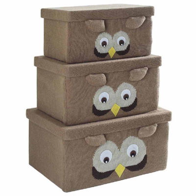 Bintopia™ 3-Piece Owl Knitted Storage Box Set