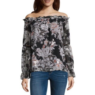 T.D.C Puff Sleeve Off The Shoulder Top
