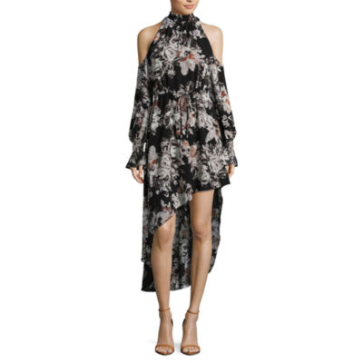 T.D.C High Low Cold Shoulder Dress
