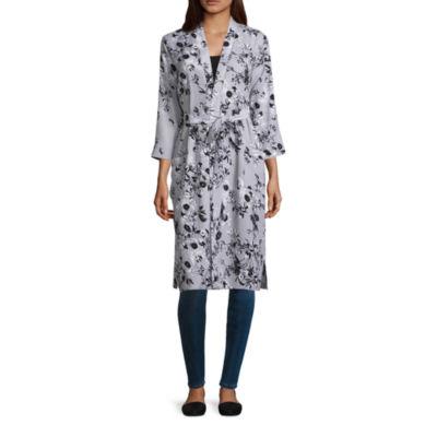 T.D.C3/4 Sleeve Floral Kimono Jacket
