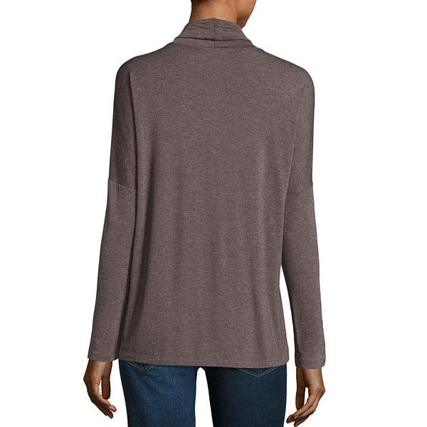 Liz Claiborne Long Sleeve V Neck T Shirt Womens Jcpenney