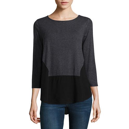 Liz claiborne long sleeve v neck t shirt womens jcpenney for Liz claiborne v neck t shirts