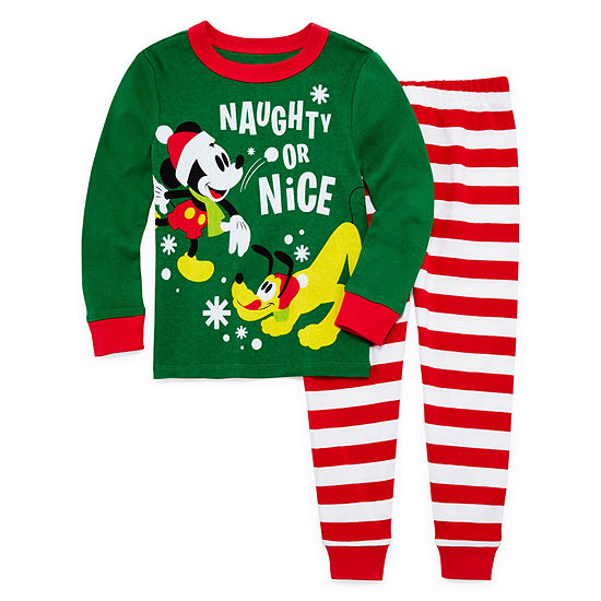 Disney Collection Boys 2-pc. Mickey Mouse Pajama Set Big Kid