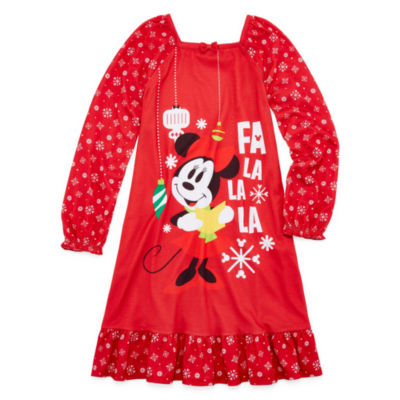 Disney Long Sleeve Minnie Mouse Nightshirt - Girls