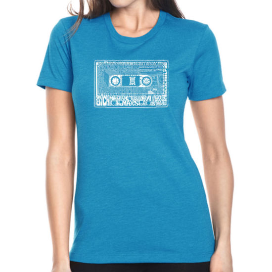 Los Angeles Pop Art Women's Premium Blend Word ArtT-shirt - The 80's