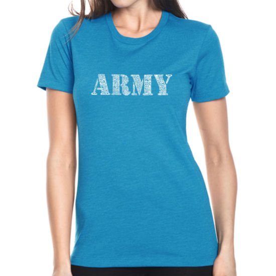 Los Angeles Pop Art Women's Premium Blend Word ArtT-shirt - LYRICS TO THE ARMY SONG