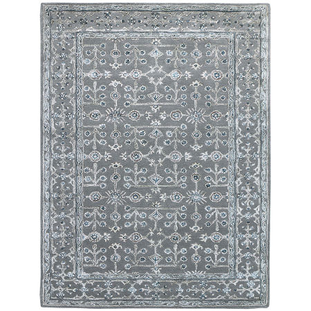 Amer Rugs Urban D Hand-Tufted Wool and Viscose Rug, One Size , Blue